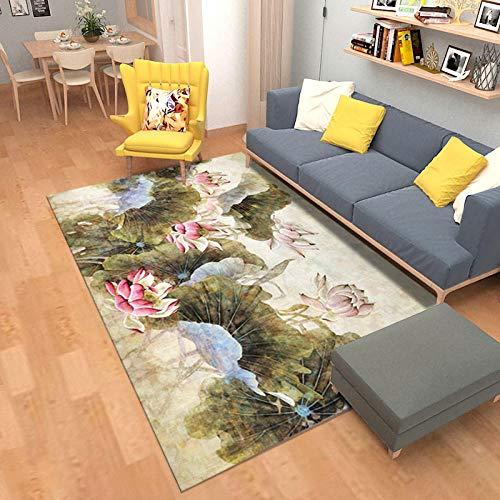PANGLDT tapijten woonkamer grote tapijt Retro Stijl Serie 1 tapijt anti slip ondervloer slaapkamer kinderen gang tapijt