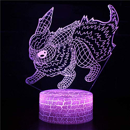 Regalos para niños, lámpara de ilusión 3D personajes de anime 4 16 cambio de color lámpara de decoración – Regalo perfecto para niños y decoración de habitación