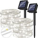 [2 Stücke] Solar Lichterkette Aussen, Ruyilam 12M 120LED Lichterkette...