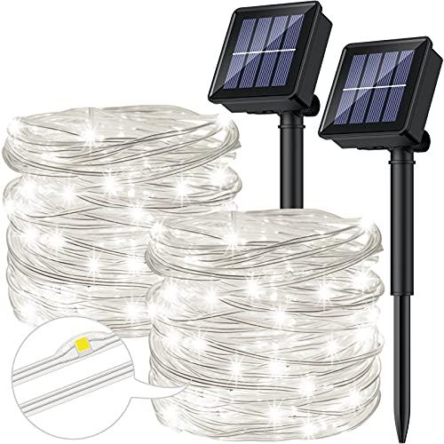 [2 Stücke] Solar Lichterkette Aussen,...