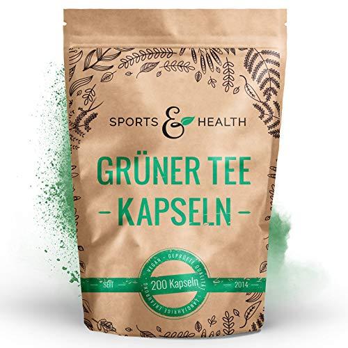 Grüner Tee Kapseln - 1.000 mg pro Tagesdosierung - 200 Kapseln - Vegan - Qualität Der Grüner Tee Kapseln In Deutschland Geprüft - Grüner Tee Extrakt Grüntee Extrakt