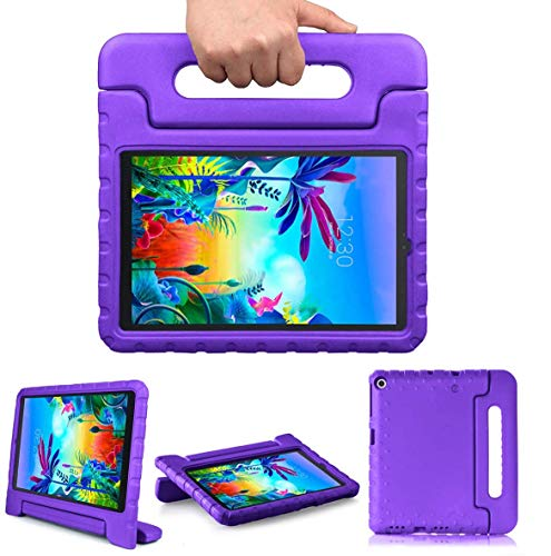Golden Sheeps Kid Friendly Case Compatible for Samsung Galaxy Tab A 10.1 Case 2019 Model T510 T515 T517, Shockproof Ultra Light Weight Convertible Handle Stand Cover (Purple)