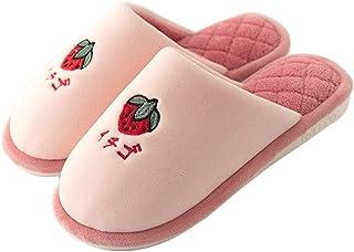 Zapatillas de Casa Hombre Mujer Niña Niño Zapatos de Estar por Casa Invierno Pantuflas Peluche Cómodo Zapatos