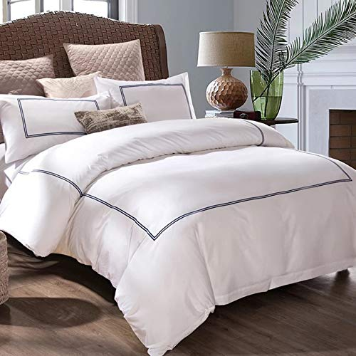 XiXiShangMao Five-Star Hotels, Guesthouses And Homestays Linen Bedding Embroidery 60 Cotton Four-Piece Duvet Cover Sheet Customization