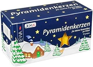 Jeka Honey 14mm Diameter Pyramidenkerzen German Christmas Candles, Set of 50 by JekaÂ