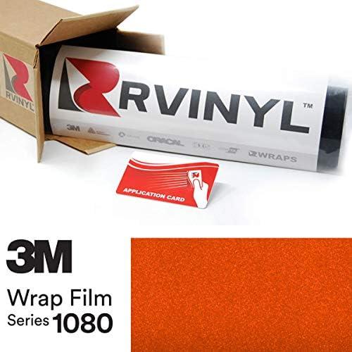 3M 1080 G364 Gloss Fiery Orange 5ft x 1ft W Application Card Vinyl Vehicle Car Wrap Film Sheet product image