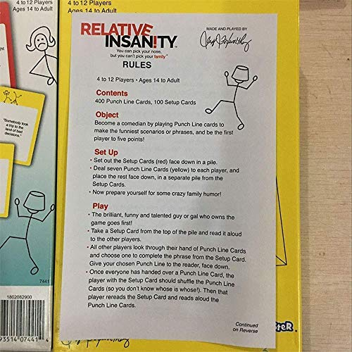 Relative Insanity Party Game À...
