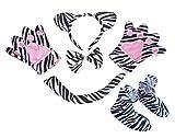 Zebra bandeau Noeud Papillon Queue Gants Chaussures 5Animal Costume pour enfants