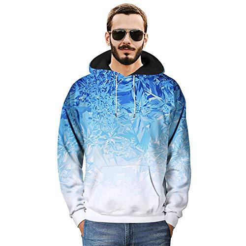 Sweat-Shirt Unisexe_Pull à Capuche Imprimé en 3D Cristaux De Glace Pull à Capuche avec Grandes Poches Kangourou M L XL 2XL 3XL