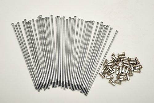Kit 40 rayons et nipples diamètre 4,0 mm longueur 200 mm droit