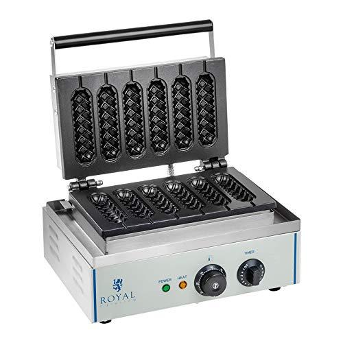 Royal Catering RCWM-1500-S Wafelijzer - 1.550 watt - stick - maïshond