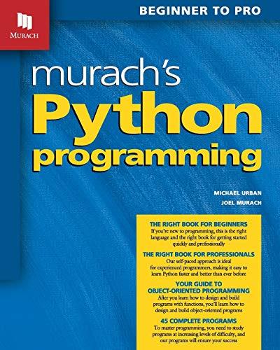 Murach's Python Programming