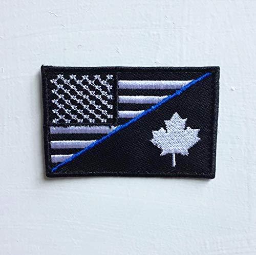 Parche bordado bandera militar Canadá planchar coser