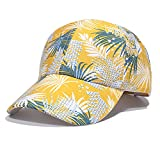 KOUJING Gorra de béisbol, gorra de béisbol con estampado floral para hombre y mujer, gorra de béisbol de viaje de verano, para pícnic, campamento y playa, para alberca