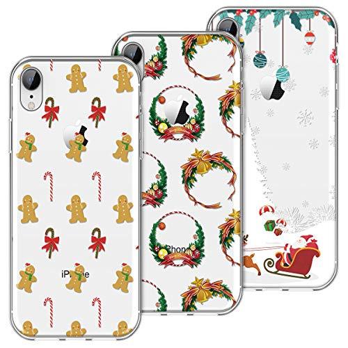 KOTPARX Funda para iPhone XR, Christmas Navidad Carcasa Transparente Funda de Silicona Suave TPU Ultra Fina Delgado...
