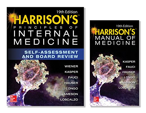 Harrison's Principles of Internal Medicine Self-Assessment and Board Review, 19th Edition and Harrison's Manual of Medicine 19th Edition (EBook) VAL PAK (English Edition)