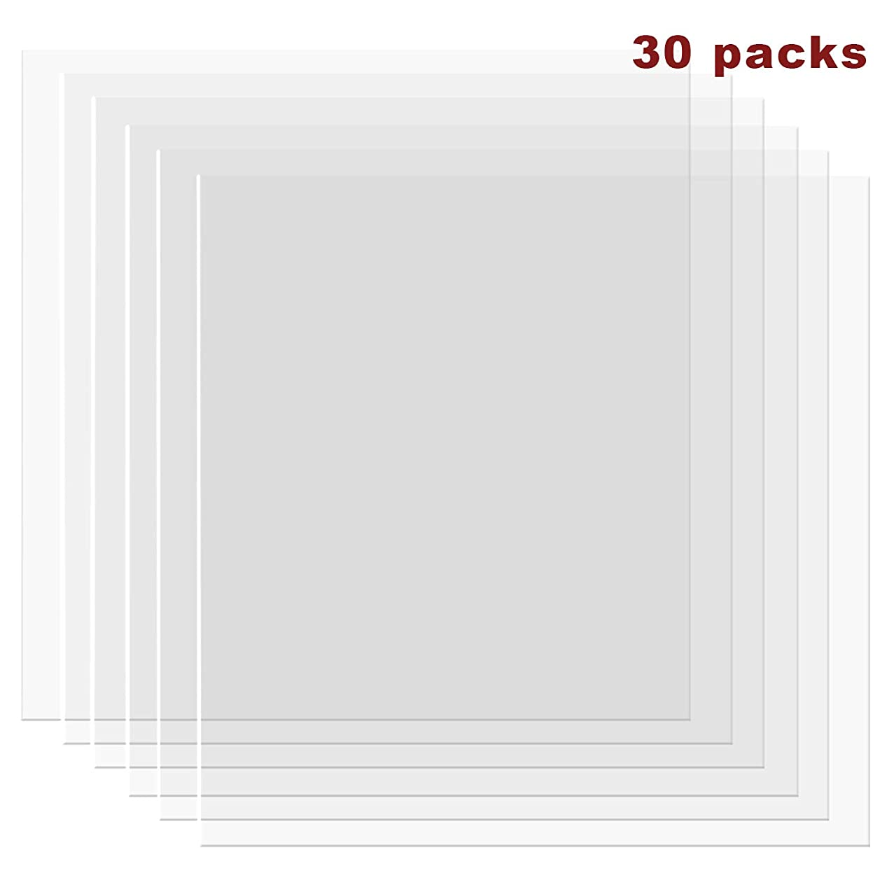 30 Pack 4 mil Blank Stencil Material Mylar Blank Sheets for Stenciling Airbrush Painting Tracing Fabric Templates,12 x 12 Inch