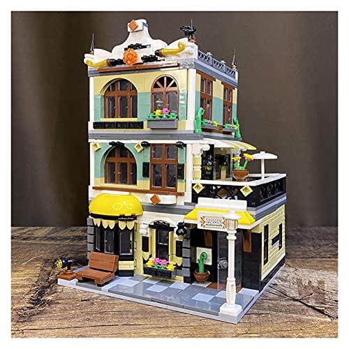 LSXUE Creatore Esperto Roma Ristorante Parisian Ristorante Stradale Modulare Building Blocks Moc Birkcs QL0936 Cafe Corner Book Shop Bank Bank ( Color : Rome Restaurants )