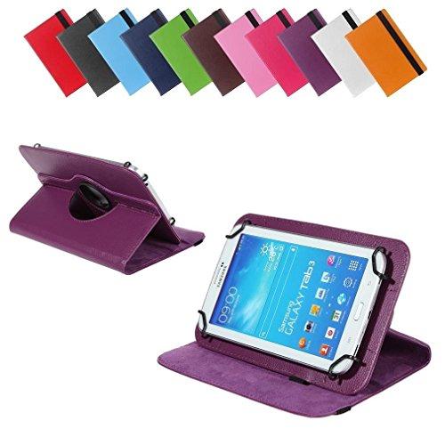 BRALEXX Universal 360° Tablet Tasche passend für i-onik TM3 Serie 1 7 Zoll, 7 Zoll, Violett