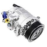 Klimakompressor Klimaanlage mit Keilrippenriemenscheibe für A3 Beetle Caddy Crafter EOS Golf J-e-t-t-a P-a-s-s-a-t Scirocco S-h-a-r-a-n Alhambra Altea XL Leon Toledo Octavia Superb Yeti 2003-2019