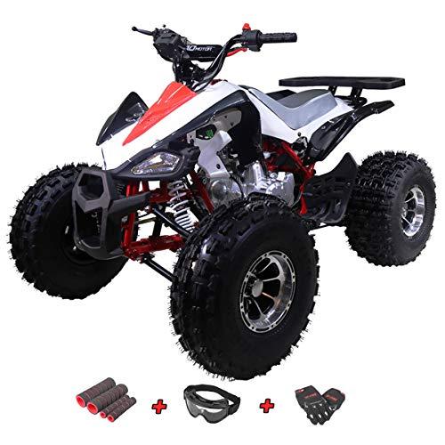 X-Pro 125cc ATV 4 Wheeler Kids ATV Quad Youth ATVs Quads 125cc ATVs with Gloves, Goggle and Handgrip