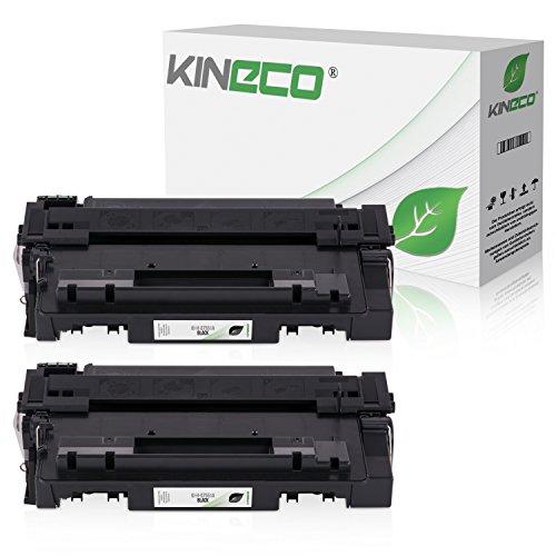 2 Kineco Toner kompatibel zu HP Q7551A Laserjet M3027X MFP, M3035XS, P3003dn, P3004dn, P3005dn - 51A - Schwarz je 6.500 Seiten