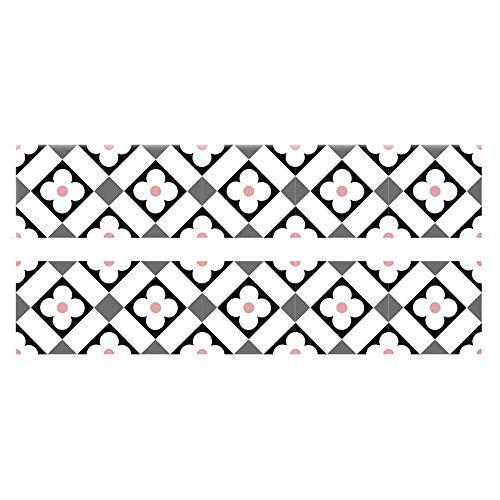 CNMF Zelfklevende tegels, papier-wandtattoo - 3D anti-aanbaklaag vloerstickers, waterdicht peeling en anti-soft wall coating, badkamer tegels decor voor de keuken, 100 x 20 cm (2 stuks)