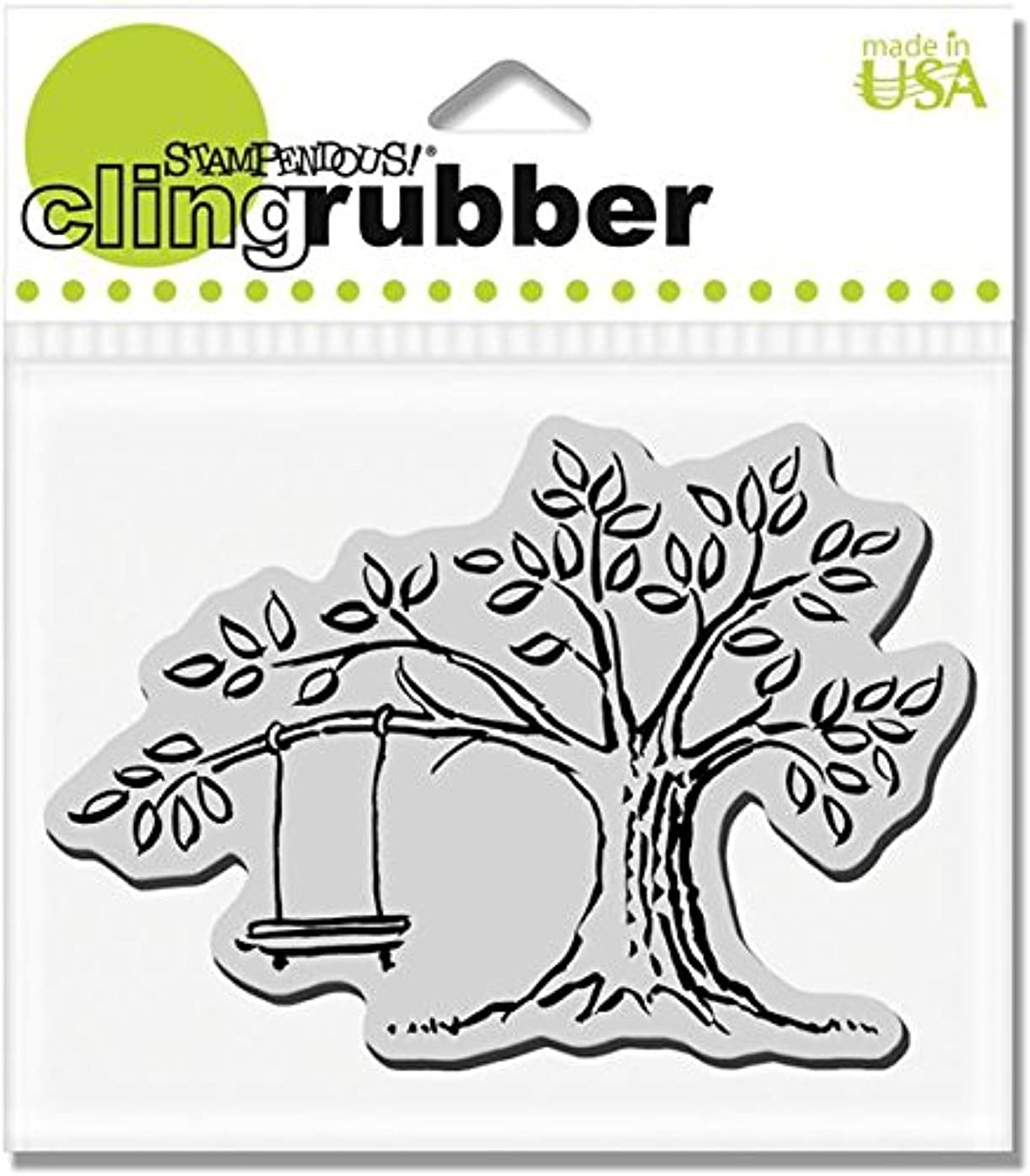 STAMPENDOUS CRP121 Cling Rubber Stamp, Tree Swing