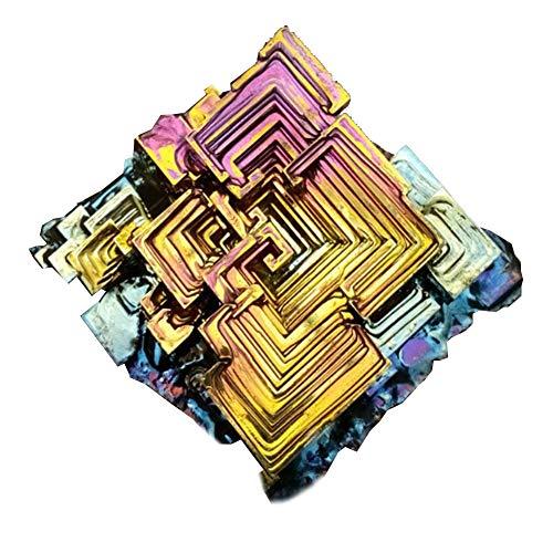 SZPP Regenbogen Wismut Kristall, Metall Kristall Probe 50g Naturkristall Mineral Sammlung Schmuck Geschenk