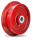 Single Flanged Track Wheel 10' Diameter x 2-1/2' Face x 3-1/4' Hub Length with 1-1/2' Roller Bearing