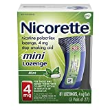 Nicorette 4mg Mini Nicotine Lozenges to Quit Smoking - Mint Flavored Stop Smoking Aid, 81 Count