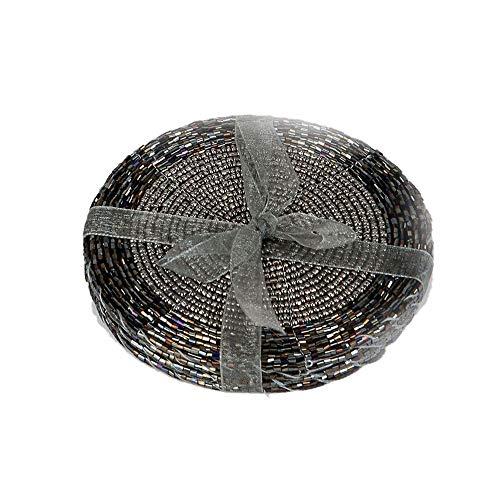 Formano Untersetzer, 6-Teiliges Set, 10 cm, Schwarz-Silber
