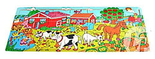 BG Großes Puzzle Farmtiere aus Holz 12Monate