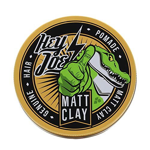 HEY JOE! - Genuine Hair Pomade Matt Clay | Cera Mate para Pelo con Fijación Alta - Envase de 100 ml