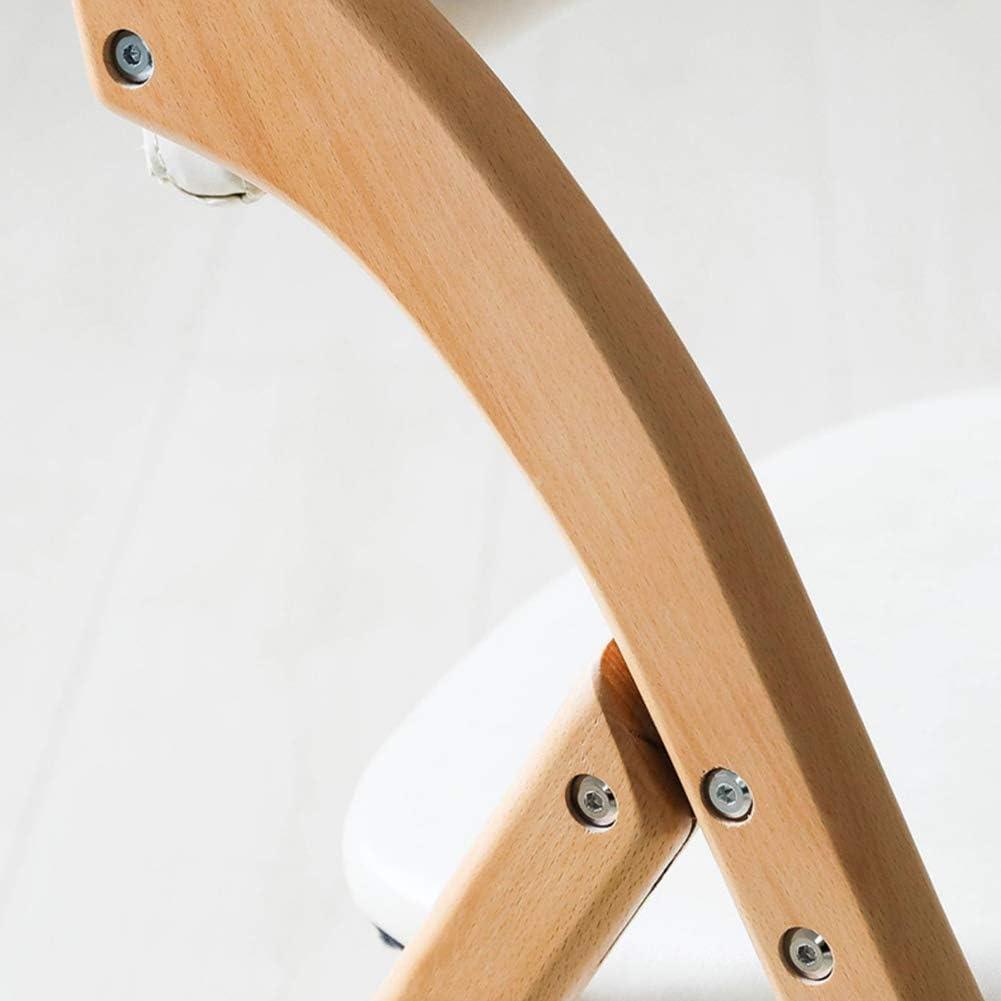 Chaise en Bois Pliante Coussin en Tissu pour Salle à Manger Chaise Chaise de Bureau Nordic Minimaliste Moderne avec Dossier, pour Home Office,Khaki Khaki