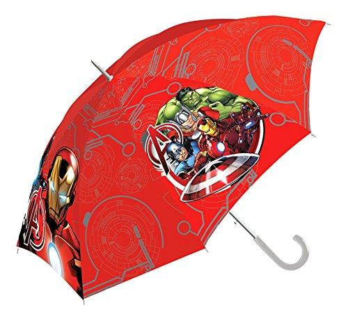 Kids Avengers Paraguas Clásico, 65 cm, Rojo
