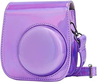 O Ozone Holographic Case for Fujifilm Instax Mini 11 Case PU Leather Instant Camera Cover with Adjustable Strap [ Designed...