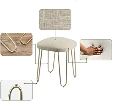 Round Makeup Bench Dressing Stool Padded Pad,Nordic Dressing Table Small Stool,Coffee Table Stool