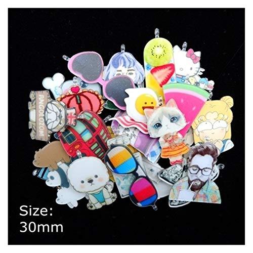 Preisvergleich Produktbild YYJH Anhänger 2-3 cm Mixed Set Anhänger Hand-verziert Anhänger Halskette Dekoration (Color : Mix Acrylic Cartoon)
