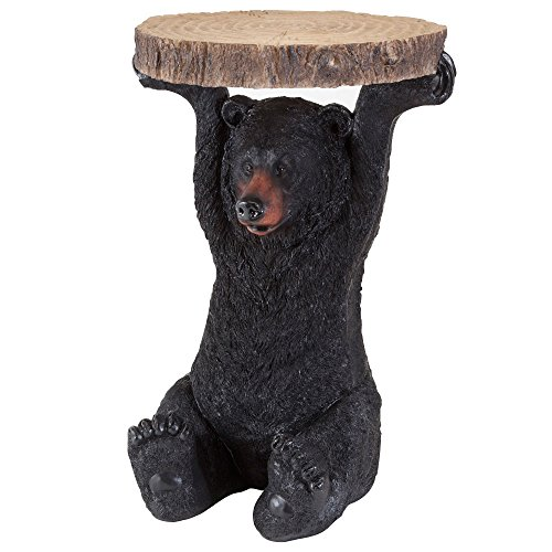 Bits and Pieces - Decorative Bear Patio Side Table - Home and Garden Accent or Decoration