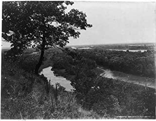 HistoricalFindings Photo: Clinton,Iowa,IA,Mississippi Valley from Joyce's Park,Eagle Point Park,c1898