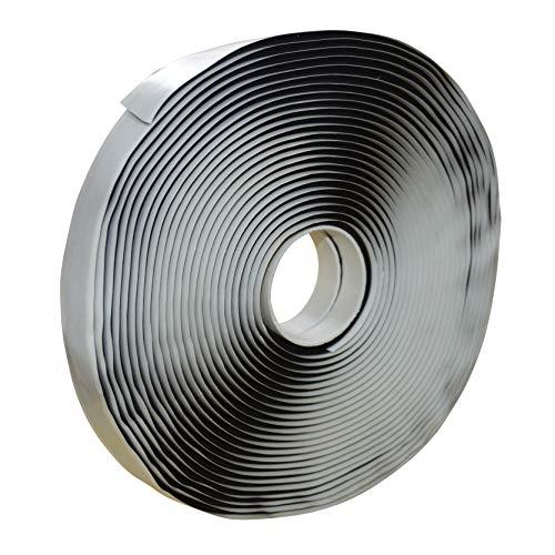 LLPT Butylband Schwarz selbstklebend Dichtband 2,5cm x 10m extra dick für lecksicheres RV-Reparaturfensterglas Bootsabdichtung EPDM-Dachabdichtung (BST233)