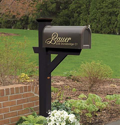 Celycasy Briefkasten-Aufkleber, Postkasten-Aufkleber mit Namen und Adresse, Briefkasten-Aufkleber, Hausadressschild, Adressschild, Postkasten-Aufkleber