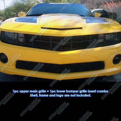 APS Passt für Chevy Camaro SS V8 Phantom Style Black Billet Grill Einsatz Combo # C61029H
