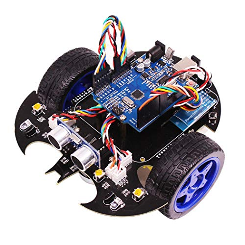 RCTOYCAR Smart Bat Robot Intelligent Programming Bluetooth Control Car Kit with for Arduino UNO R3 Board Kids Science Educate