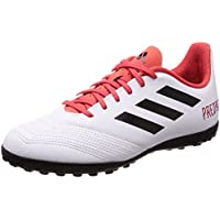 Adidas Predator Tango 18.4 TF J, Botas de fútbol Unisex niño, Blanco (Ftwbla/Negbas/Correa 000), 38 EU