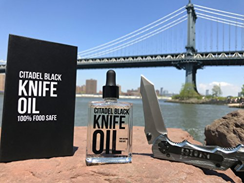 Citadel Black 100% Natural Food Grade Knife and Blade Maintenance Oil