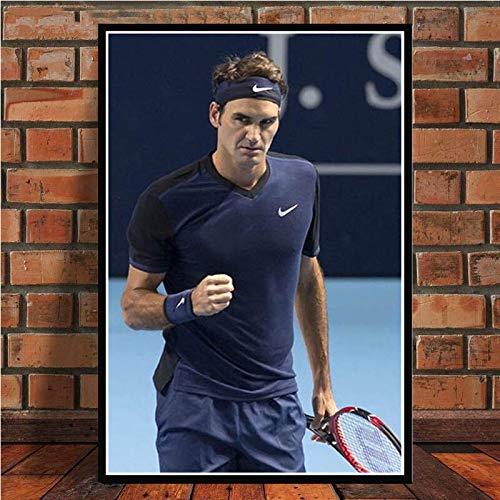 UIOLK La Superestrella del Deporte de Estilo nórdico Roger Federer (Roger Federer) tenista Carteles e Impresiones Arte de la Pared decoración de la Pared Arte decoración Colorida hogar