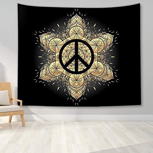 KHKJ Tapiz de Mandala para Colgar en la Pared, decoración Boho, tapices de Tela para Pared, Tapiz Bohemio psicodélico, Alfombra de Pared de Mandala, A4 95x73cm