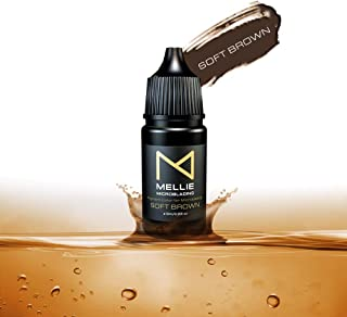 Mellie Microblading Pigment – Soft Brown 10 ml/.35fl.oz | Medical Grade | No Mixing | Long Lasting Tattoo Ink For Professionals Semi-Permanent Make Up PMU Supplies